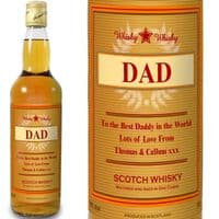 Personalised Gold Award Whisky Bottle Gift - Ideal for Fathers Day, Birthdays and Christmas.